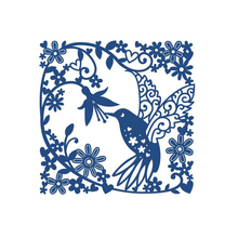 Naifumodo Humming Bird Leaves Frame Metal Cutting Dies for Scrapbooking New 2019 Crafts Die Cuts Card Making Album Embossing