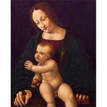 Laeacco Canvas Painting Calligraphy Raphael Classic Wall Art Madonna and Child Posters Prints Living Room Home Decoration