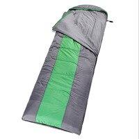 AOTU Outdoor Portable Ultralight Sleeping Sports Trekking Thickener On Warm Adult Waterproof Emergency Sleeping Bag Green