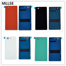 Repair Rear Door Battery Cover for Sony Xperia Z3 Compact back Glass Z3 Mini M55W Battery Door Glass Housing Cover With LOGO