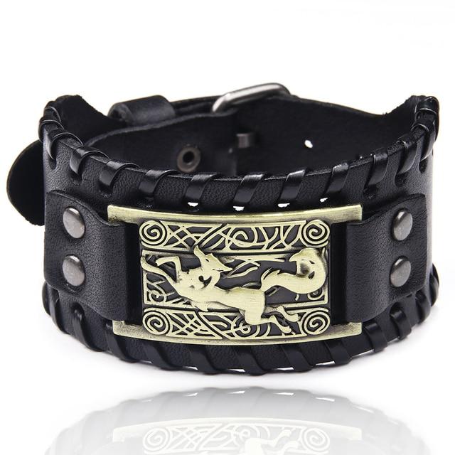 Bracelet en cuir tressé Viking 3