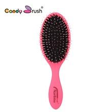 Natural Boar Bristle Hairbrush with Nylon Women Wet Hair brush Barber Scalp Massage Comb for Hair