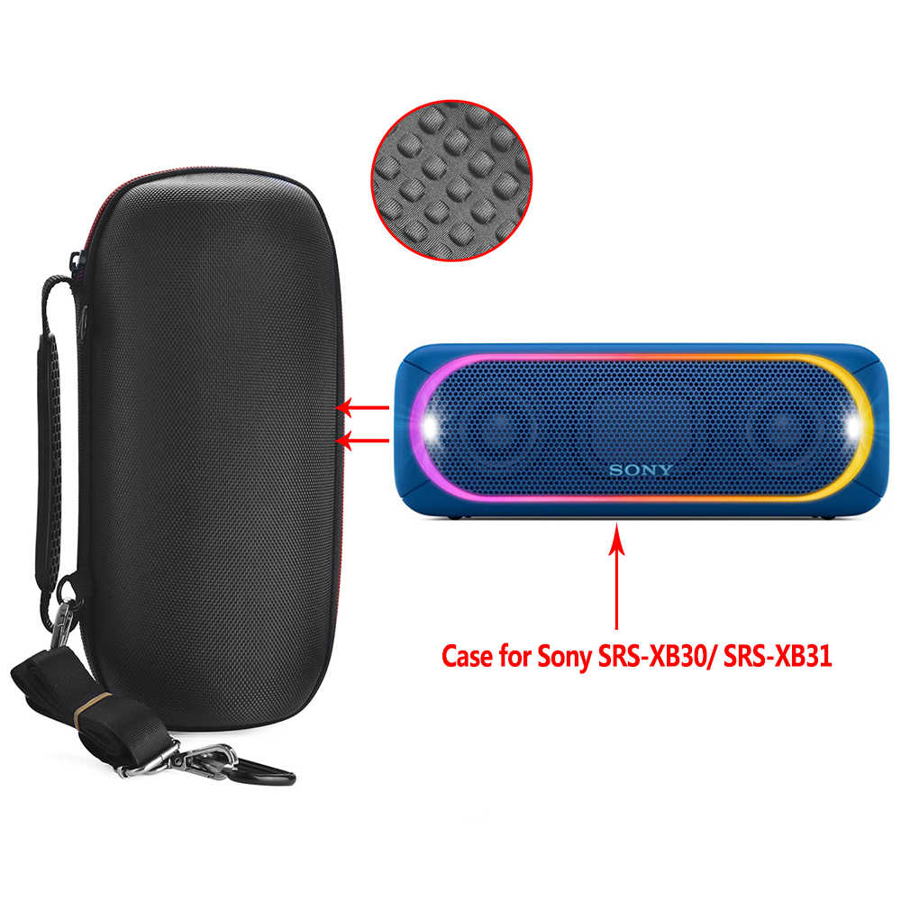 2019 Newest EVA Hard Protective Carry Cover Bag Case for Sony XB30/XB31,Sony SRS XB30/XB31,Sony SRS-XB30/XB31 Bluetooth Speaker