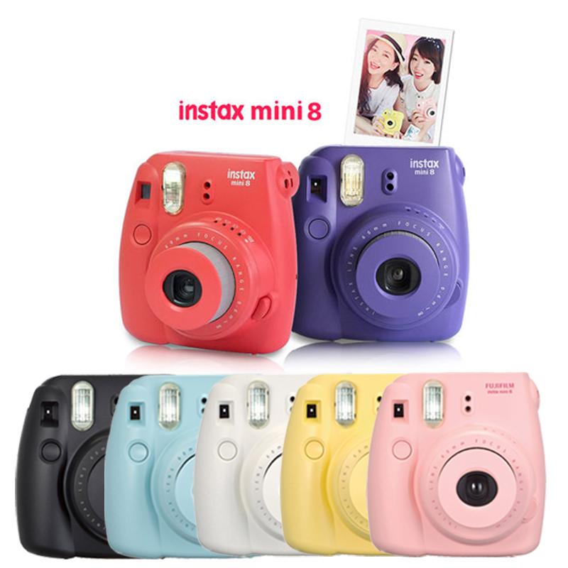 Prix pour Véritable Appareil Photo Numérique Compact Fuji Fujifilm Instax Mini 8 Instantanée Impression Ordinaire Film Instantané Caméra Tir Photos