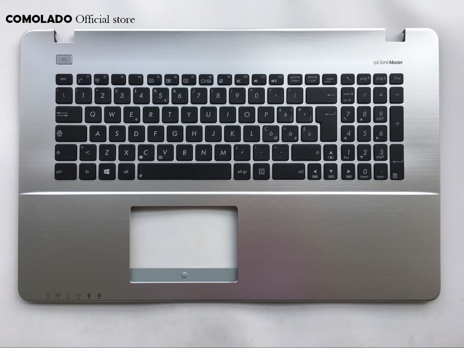 IT Italian Keyboard For ASUS X750 X750J X750JA X750JB X750JN X750VB Top Cover Upper Case Palmrest keyboard IT Layout