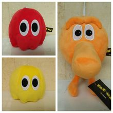 3 pcs lot Movie Pixels Plush Toys Doll Pacman Q Bert Kawaii Pixels Qbert Pac man