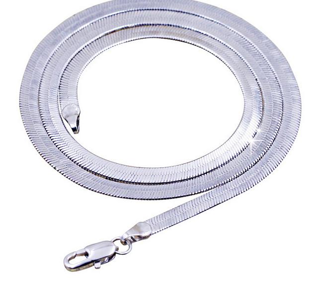 Badass flat snake link chain necklace
