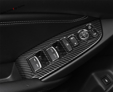 Yimaautotrims Armrest Window Glass Lift Button Panel Cover Trim Fit For Honda Accord 10th 2018 2019 ABS Matte Carbon Fiber Look yimaautotrims steering wheel button frame molding cover trim fit for nissan qashqai j11 2017 2018 abs matte carbon fiber look