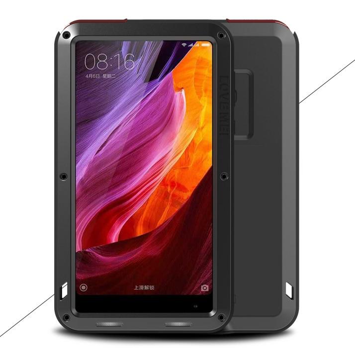 For Xiaomi Mi Mix Max Love Mei Metal Aluminum Armor life Waterproof Shockproof +Gorilla Glass Case Xiaomi Mix2 Protect Max 2
