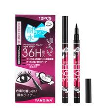 YANQINA 1pcs Black Waterproof Liquid Eyeliner Pencil No Dizzy Eye Liner Pen Cosmetics Eye Makeup Beauty Essentials Long-lasting