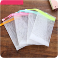 4pcs/lot  wholesale facial body bath cleansing foam to wash double layer bubble foam net bag use cleanser soap bathroom tools