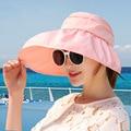 Defender o ray ultravioler Aba Larga Chapéu de Sol de verão Praia de Areia Defesa SOL de Verão chapéu de Sol Mulher CM10