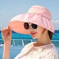 Verano Defender el ray ultravioler Defensa SOL de Ala Ancha Sombrero para el Sol Playa de Arena de Verano Mujer Sol sombrero CM10