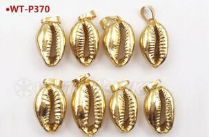 Vermeil 18k gold over 925 sterling silver cowrie shell connector sea shell cowrie shiny gold cowrie shell connector shell connector