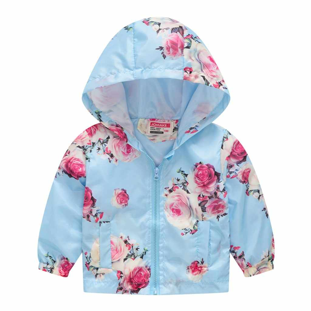 ARLONEET 11 צבעים לפעוטות ילדים בייבי בנות בני אביב ברדס מעיל מעיל דק רוכסן פרחוני פרחי חולצות להאריך ימים יותר עבור ילד j0607