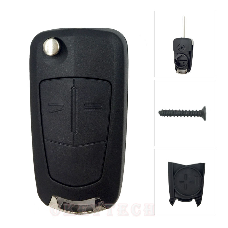 2 Buttons Flip Remote Folding Car Key shell for Vauxhall Opel Corsa Astra Vectra zafira corsa Uncut omega Key Cover With logo