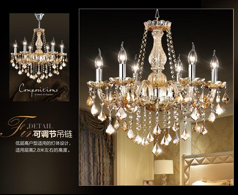Luxus Moderne Continental K9 LED Kristall Kronleuchter Luxus Wohnzimmer  Pendelleuchte Hohe Ende Beleuchtung Glanz Beleuchtung 110 V 260 V In Luxus  Moderne ...