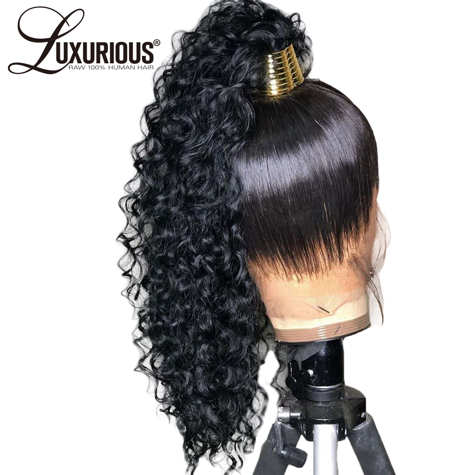 360 Lace Frontal Wig With 6inch Deep Part Pre Plucked With Baby Hair Loose Wave Lace Front Human Hair Wigs Brazilian Remy Hair