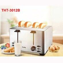 THT-3012B 220 В/50 Гц Многофункциональный тостер для завтрака Автоматическая нержавеющая сталь 4 секционированный тостер мини-тостер 1260 wtoster печи