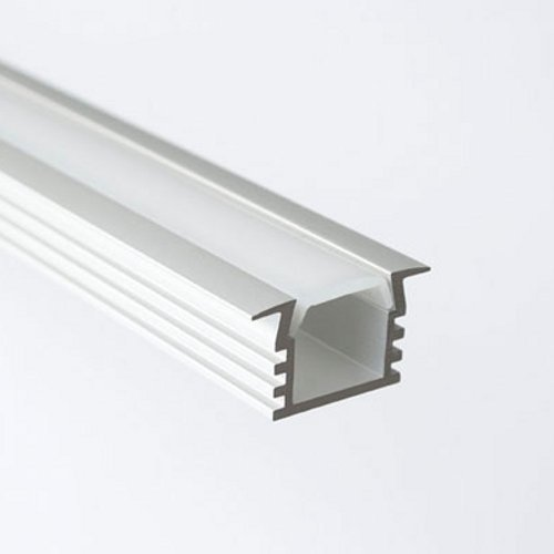 Deep Flush Mount Aluminum LED Strip Light Profile Housing LED Cabinet  Linear Light Fixture, End Caps And Mounting Clips Included