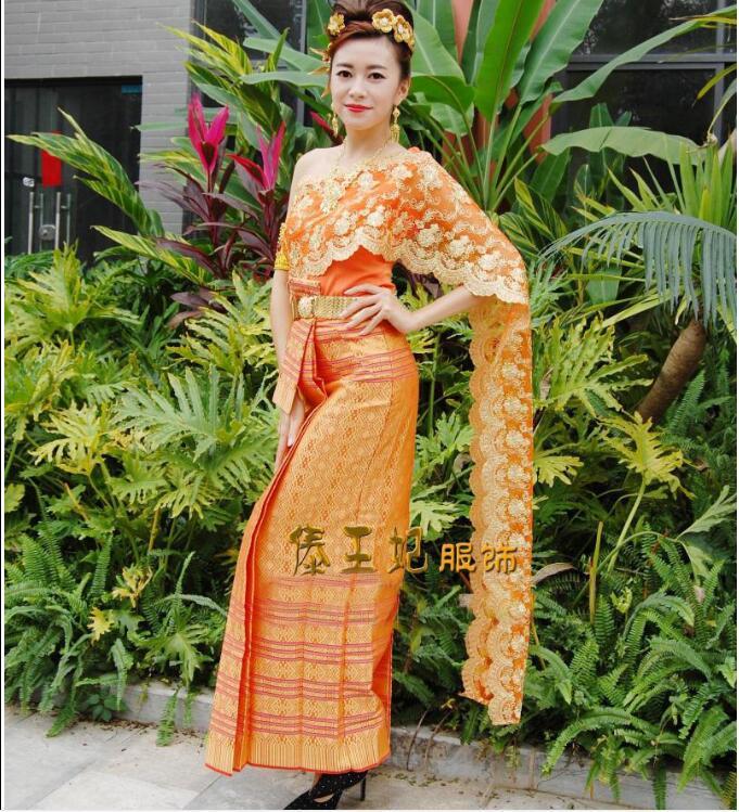 Thailand Traditionelle Kleidung Orange Thailand Rezeption Uniformen Frauen Kleid Sommer Uniform Uniforms Uniform Receptionistuniform Thailand Aliexpress