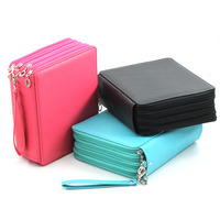 Super Large Capacity PU Leather 168 Slots Multi Layer Colored Pencil Wrap Storage Case Bag Pouch