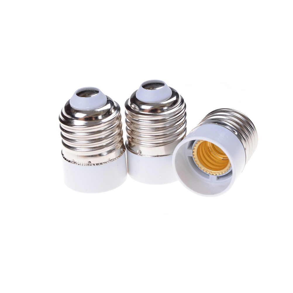 Fireproof Plastic E14 to E27 Socket Adapter Conversion Lamp Holder Converter Socket Light Bulb Adapter Led Light Base Accessory
