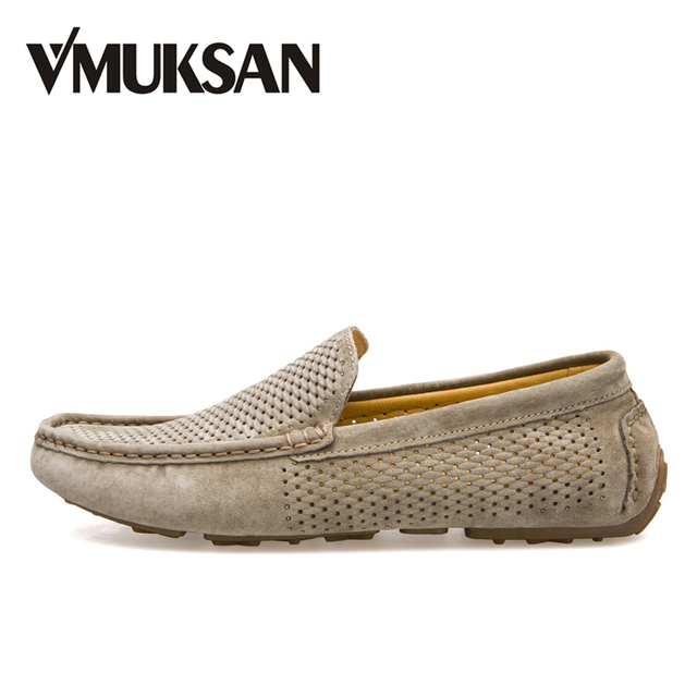 Mens Shoes 2018 Spring Slip On Driving Loafers Moccasins Hollow-Out Walking Shoes