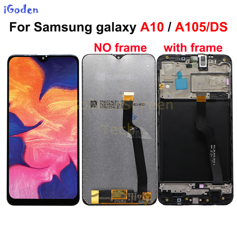 15db54926256c7 For Samsung galaxy A10 lcd Digitizer A105/DS A105F A105FD A105M Display  Touch Screen with frame Digitizer For Samsung A10 lcd