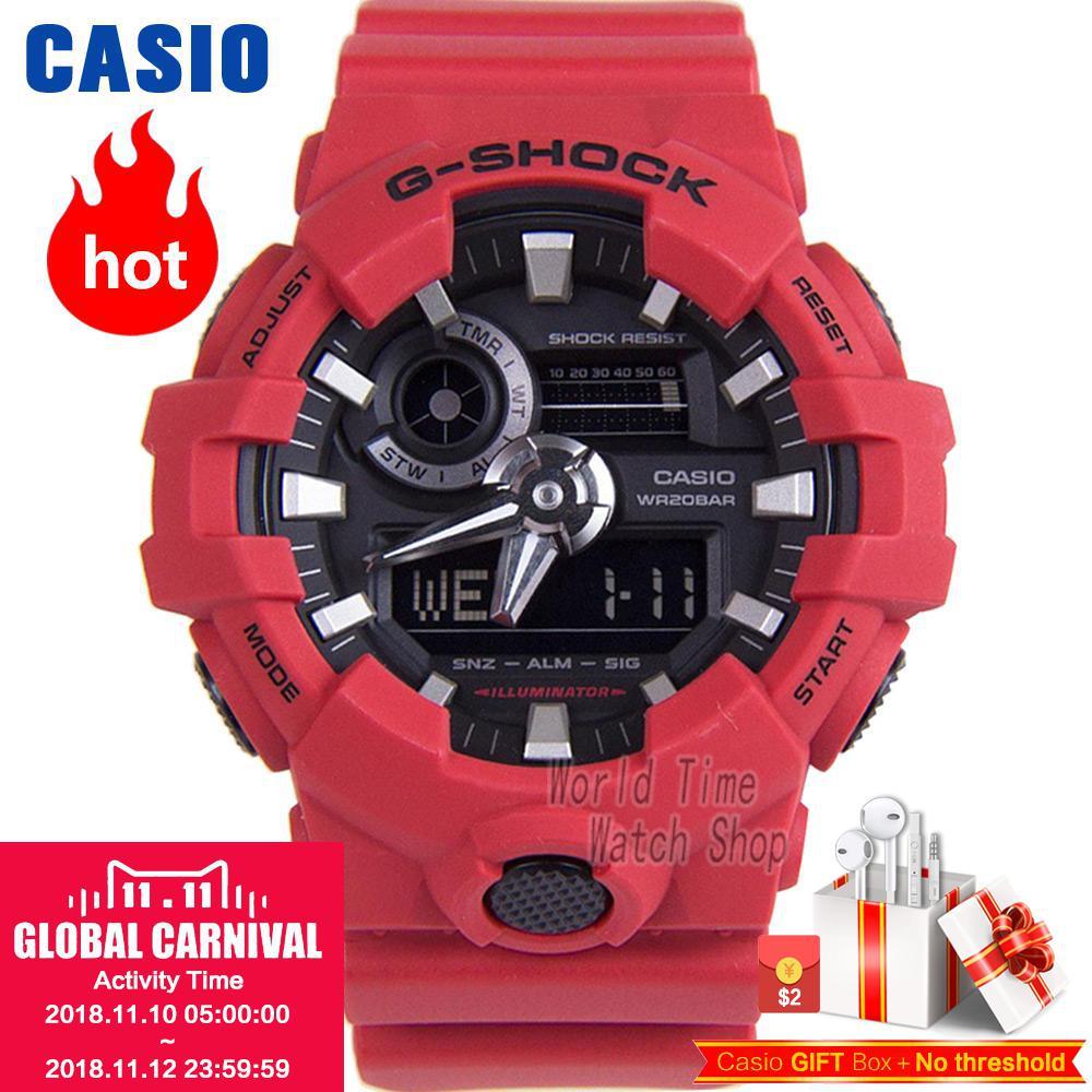 все цены на Casio watch G-SHOCK Men's Quartz Sports Watch Cool Comfortable Resin Strap Waterproof g shock Watch GA-700 онлайн