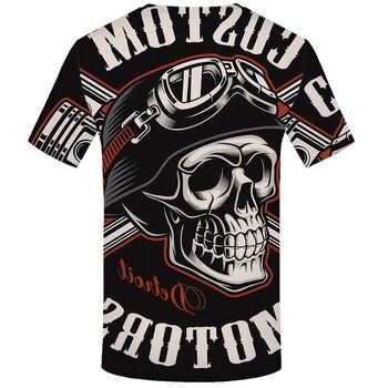 KYKU Skull T Shirt Men Black Tshirt Funn...