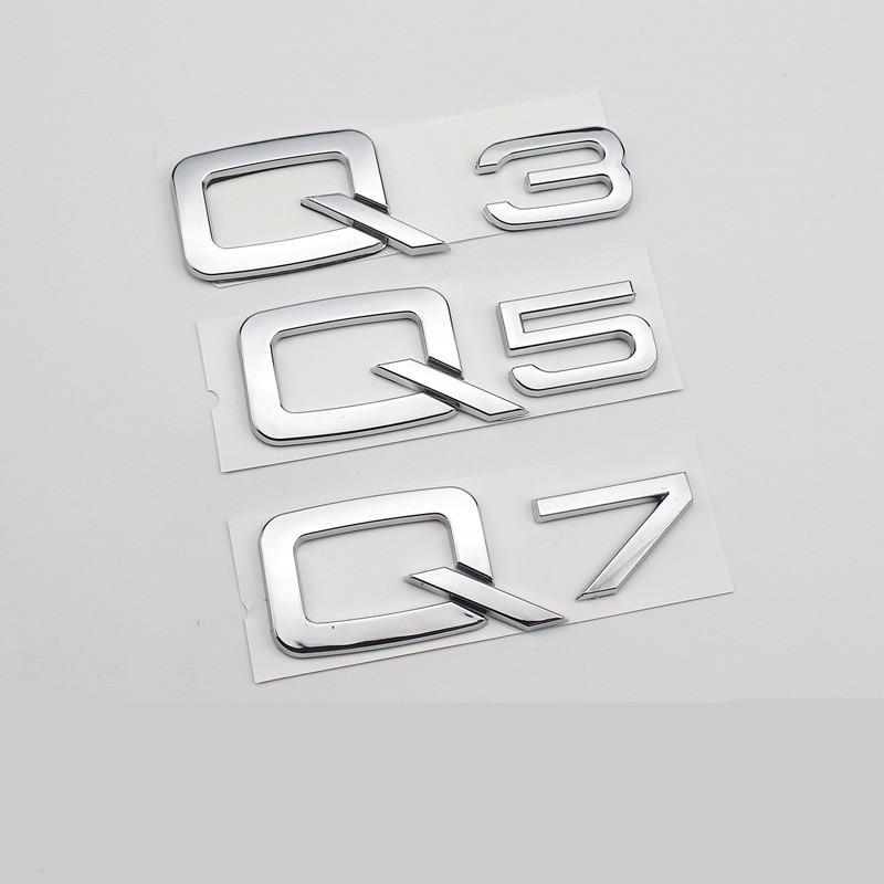 Quattro Emblem RS Style Badge Grill For Audi A1 A4 A6 Q5 Q7 TT Front Logo BK//RD