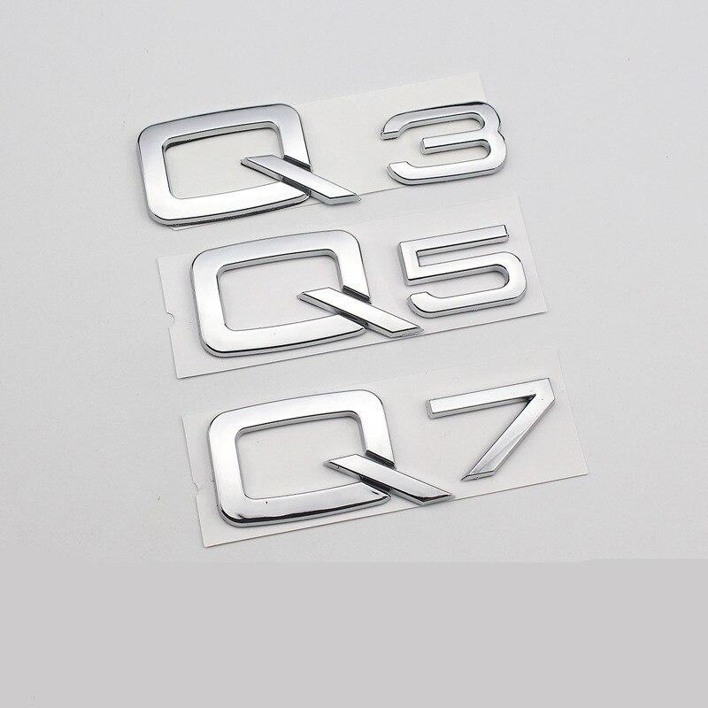 2x Audi V8T Gloss Black Metal Side Wing Badge A4 A5 A6 A7 S4 S5 Q5 Q7