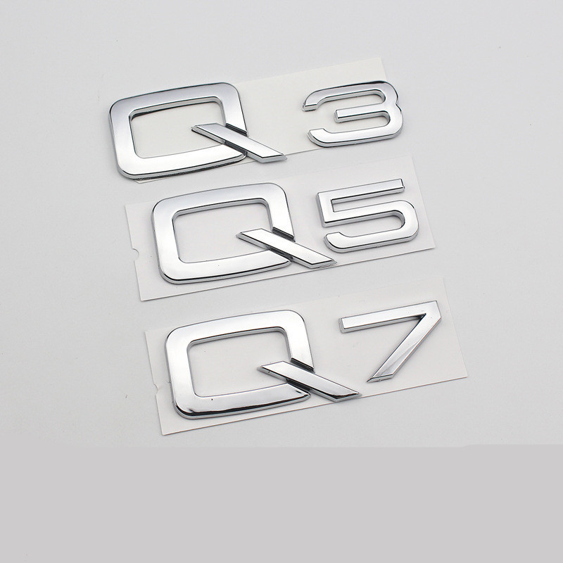 Metal Logo for Audi A3 A4 A4L A5 A6 A6L A7 A8L Q3 Q5 Q7 LOGO Car Styling Sticker Factory Supply Car Rear Decoration Emblem Badge image