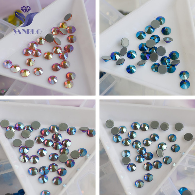 YANRUO 2058HF SS16-SS20 1440pcs Effects AB Strass Hot Fixation Rhinestones  Iron On Stones And ae4702563ff2
