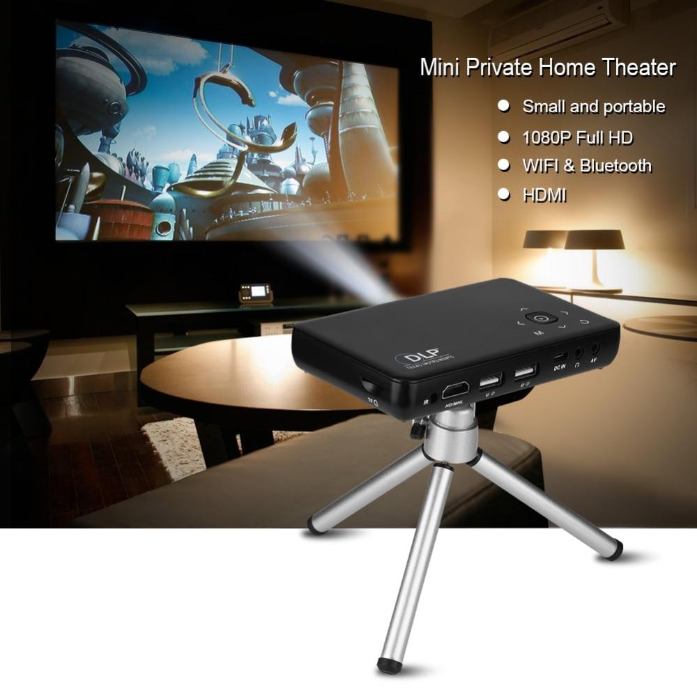 Mini Pocket Mobile <font><b>LED</b></font> <font><b>Projector</b></font> 1080P <font><b>Full</b></font> <font><b>HD</b></font> Outdoor Business Home Theater UK Plug