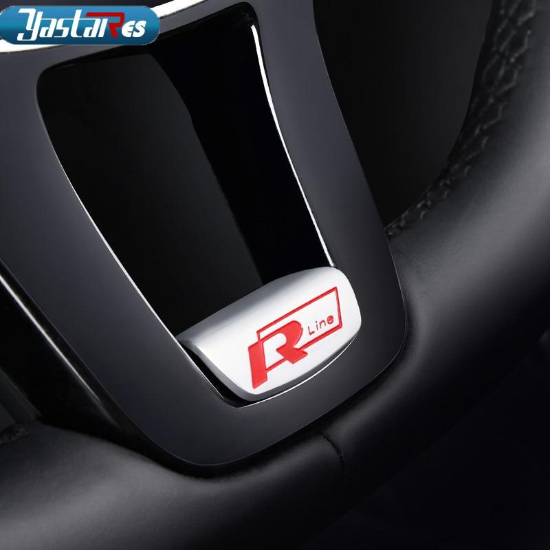 3D Metal R Rline R-LINE emblem badge car sticker for audi Volkswagen VW GOLF 5 6 7 MK7 B8 Passat steering wheel Car styling auto chrome camaro letters for 1968 1969 camaro emblem badge sticker