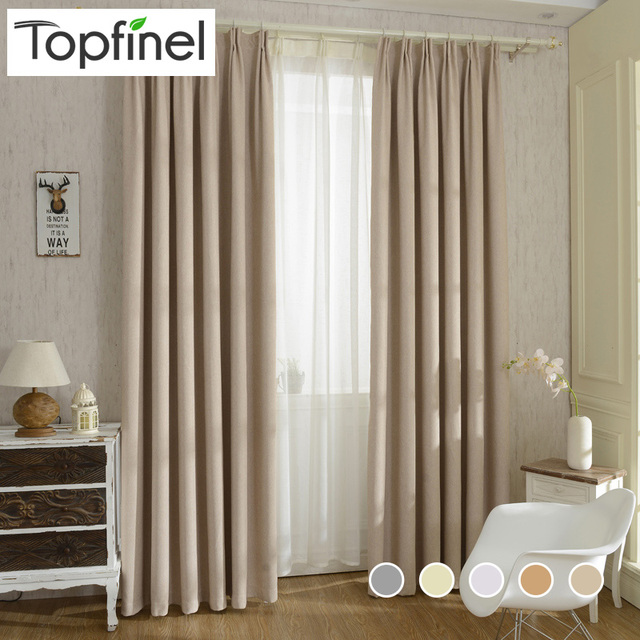 2015 New Solid Twill Window Shade Thick Blackout Curtains For Living Room  The Bedroom Window Treatment Part 75