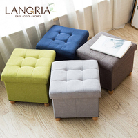 Fitting Room Fabric Stool Multifunctional High Chair Storage Box Cloest Tea Table Coffee Table Sofa Stool Ottoman Foot Stool