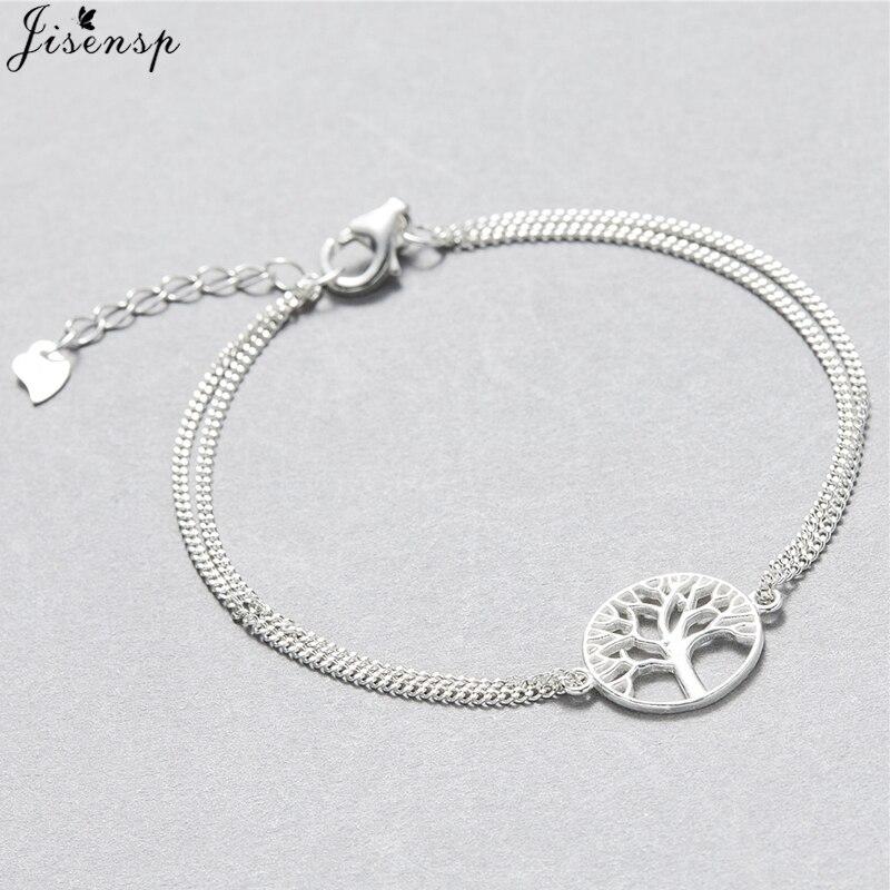 Jisensp Fashion Link Chain Tree of Life Charm Bracelet for W