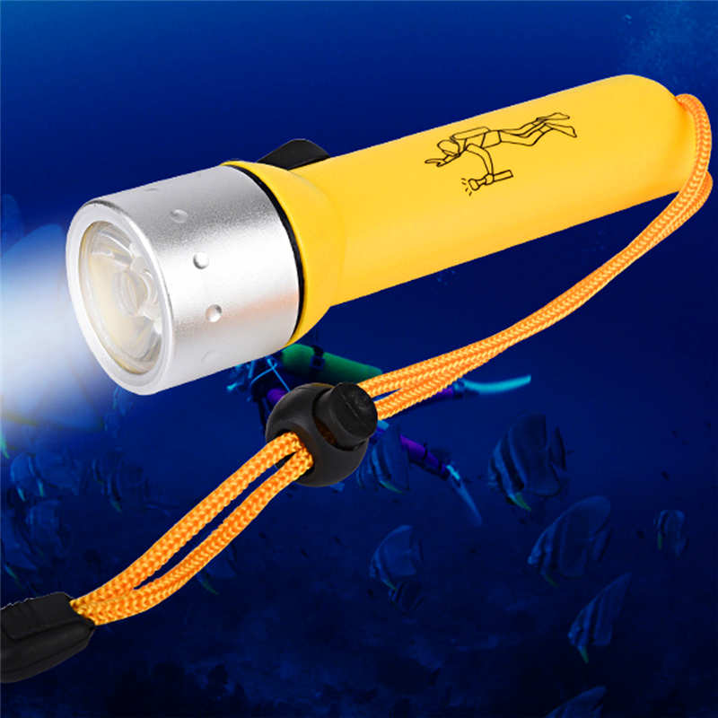 Led Lighting Led Flashlights Underwater 1200lm Xm-l T6 Led Diving Flashlight Torch Lamp Light Powerful Led Flashlight Waterproof Lanterna Led T6 #4s6 To Enjoy High Reputation At Home And Abroad