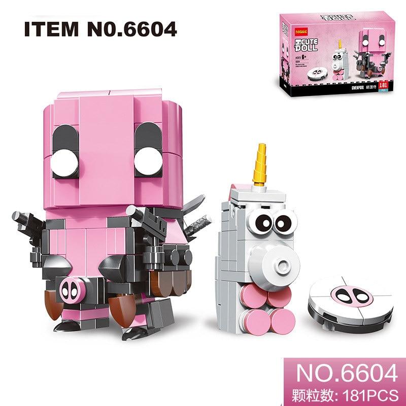 NEW 181pcs Brickheadz Marvel Avengers Super Heroes Deadpool Brick Heads Headz Building Blocks Kids Toys Compatible With