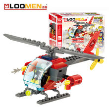 2016 New 89pcs/set DIY Building Blocks Toy Helicopter fire Action Figure Deformation Toys Children Educational Toy Kids Gifts