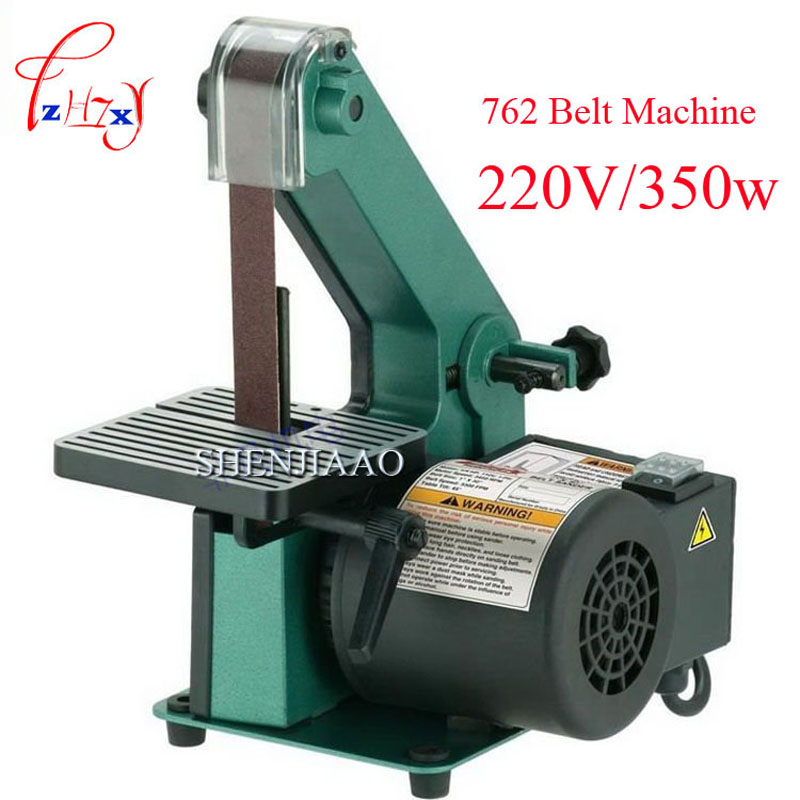 762 Belt Sander Sanding machine Woodworking metal grinding / Polishing Machine Reblower Chamfering Machine 350w Copper motor vertical type abrasive belt machine polishing grinding small bench 915 sand belt
