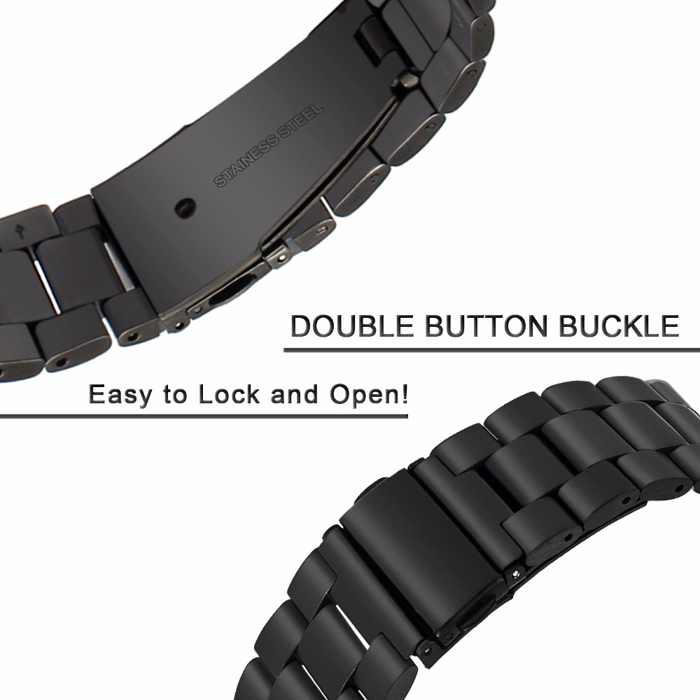 Newest Fashion Stainless Steel Watchband for Samsung Gear S3 Classic / Frontier R770 R760 Watch Band Metal Strap Wrist Bracelet