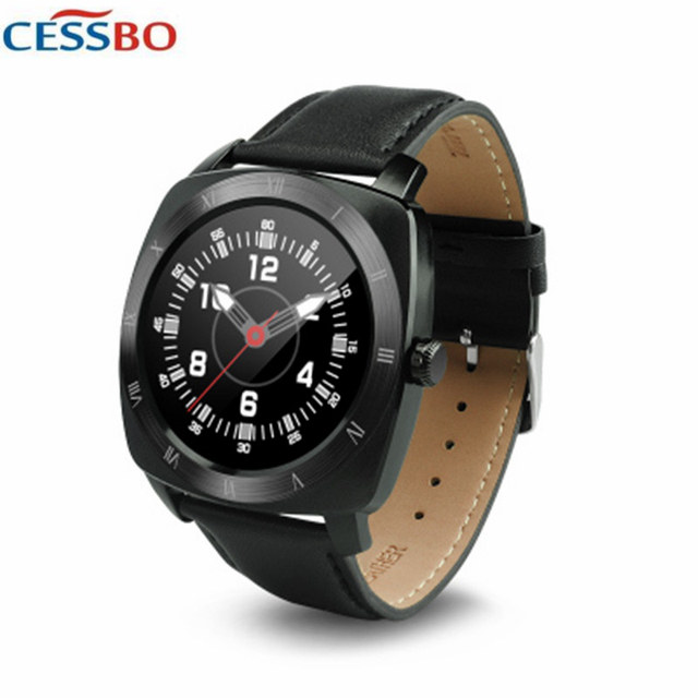 Bluetooth Smart watch phone men Leather strap smartwatch Pedometer Remote Control Heart rate monitor smart electronic for phone