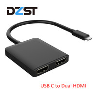 DZLST USB C To HDMI Dual Adapter Type C 3 1 Male To Dual HDMI Female