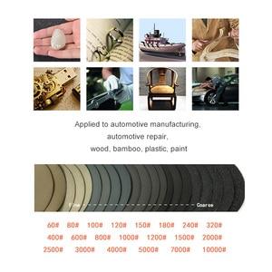 Image 5 - 20 adet 6 inç 150mm su geçirmez zımpara diskleri kanca ve döngü silikon karbür zımpara ıslak/kuru 60 10000 Grit parlatma