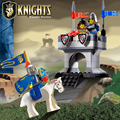 Castillo enlighten educational building blocks juguetes para los niños regalos mini caballo knight compatible con legoe