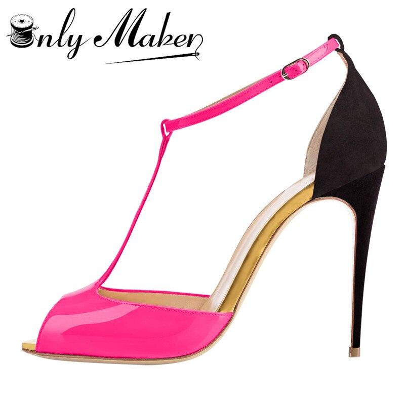 Onlymaker Туфли-лодочки с каблуком в сдержанном стиле открытые замшевые босоножки на высоком каблуке Для женщин блестками Ремешок на щиколотке ...